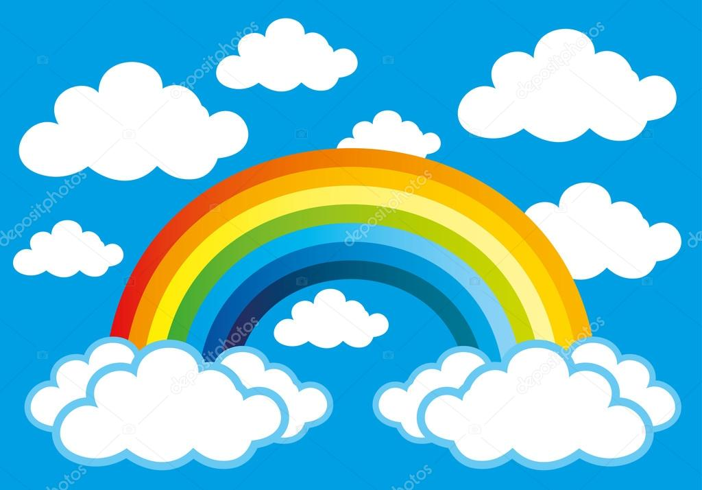 Disegno Arcobaleno Con Nuvole.Rainbow And Clouds Stock Vector C Taronin 87430270