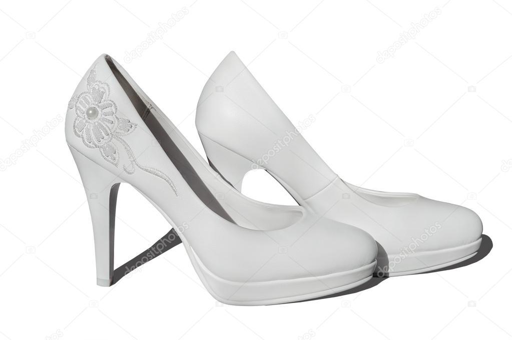 585513ccab9461 Елегантні туфлі на випускний — Стокове фото — білий © format35 #91174906