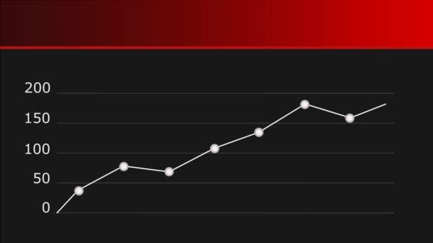Infografický graf. Abstraktní graf, který zobrazuje informace jako řadu datových bodů. Tmavé pozadí. Červený titulek 4k