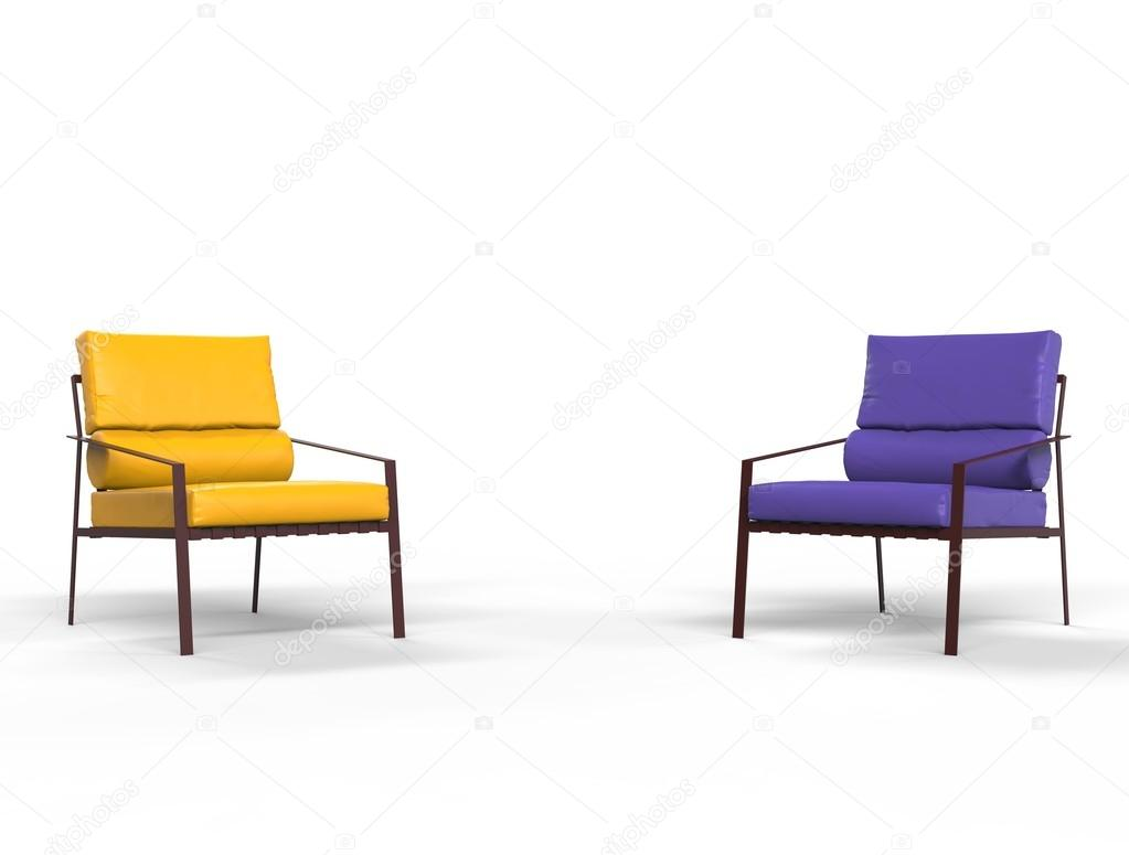 Armchairs On White Background, Image Shot In Ultra High Resolution. U2014 Photo  By Svitac