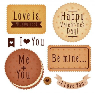 Set of Valentine's day label