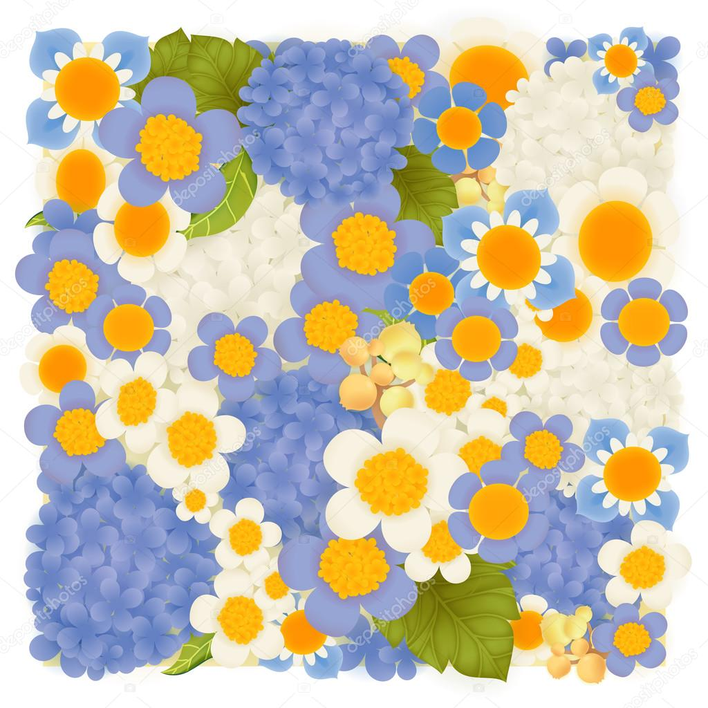 Hydrangea , periwinkle , hyacinth blue floral background