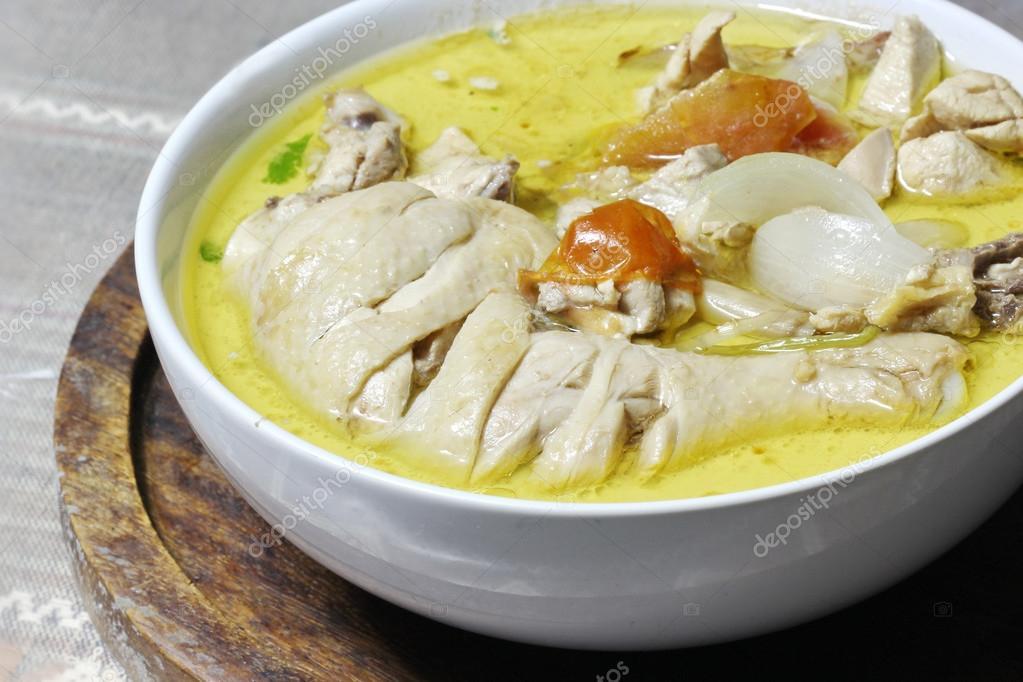 Zielony Kurczaka Curry Kuchnia Tajska Zdjecie Stockowe