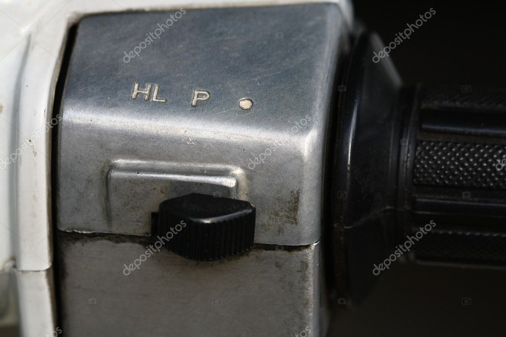 close up light switch of motorcycle