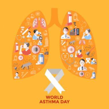 World Asthma Day Icons Set