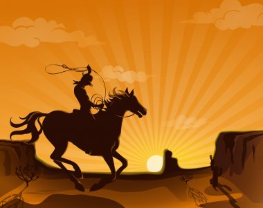 Wild West Landscape Poster