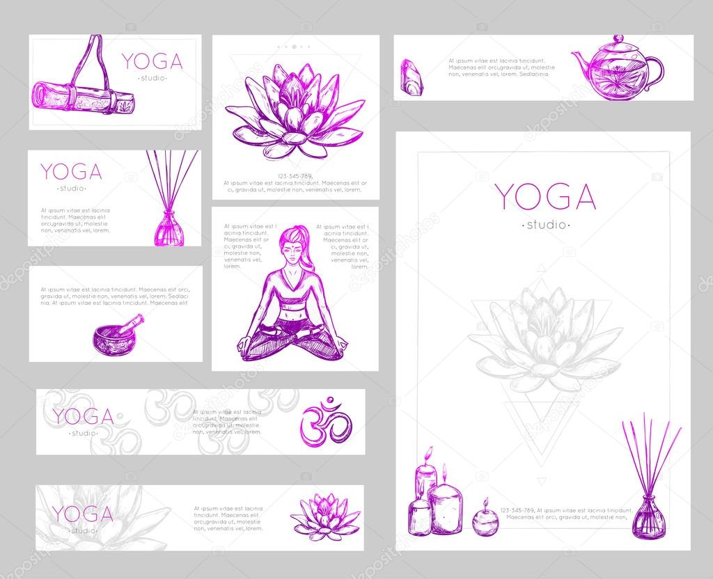 Yoga Flyer Design — Stock Vector © Mogil #121433244