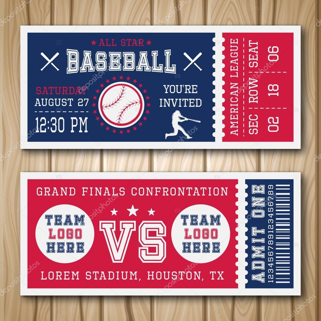 Baseball Blue Red Tickets — Stock Vector © Mogil #121688898