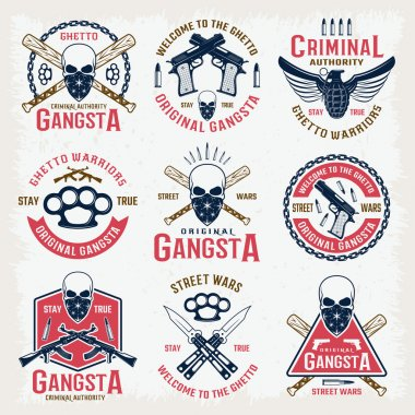 Gangster Colored Emblems