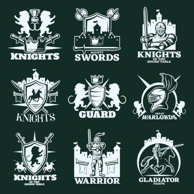Knights Monochrome Emblems