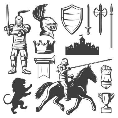 Knights Monochrome Elements Set