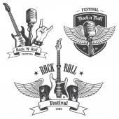 A rock and roll zene emblémák beállítása