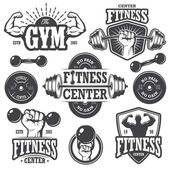 Photo Second set of monochrome fitnes emblems
