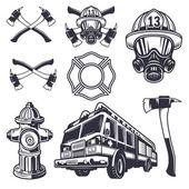 Sada prvků navržených hasič