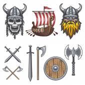 Sada barevných prvků, viking