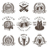 Photo Set of vintage beer brewery emblems