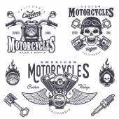 Fotografie Sada vintage motocykl emblémy