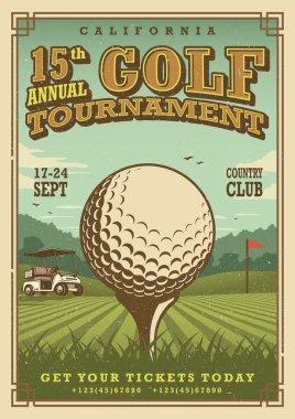 Vintage golf poster