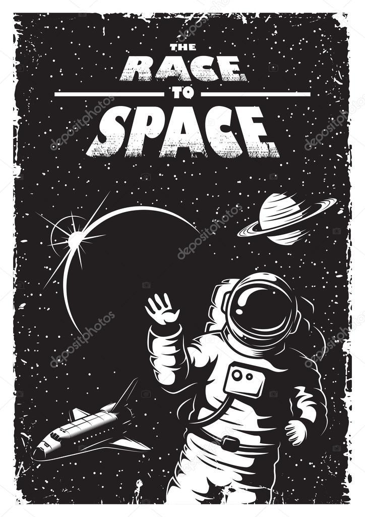 retro astronaut posters - 707×1080