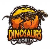 Fotografie Dinosaurs world emblem