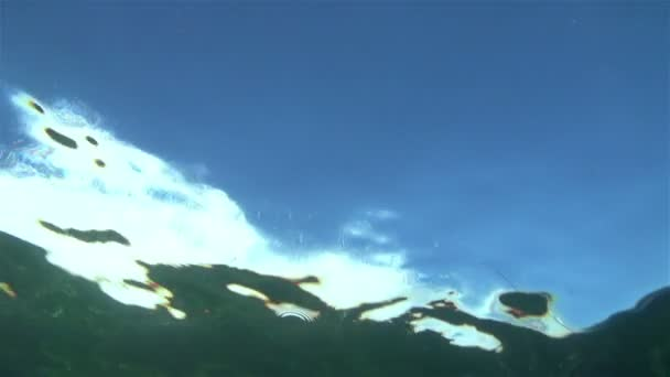 Super Slow Motion Underwater Ocean Wave