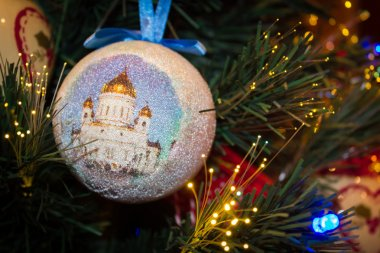 Christmas ornament with of The Cathedral of Christ the Saviour