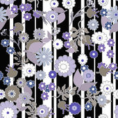 Bezešvé květinový retro design vzor kreslený roztomilý květiny proužek