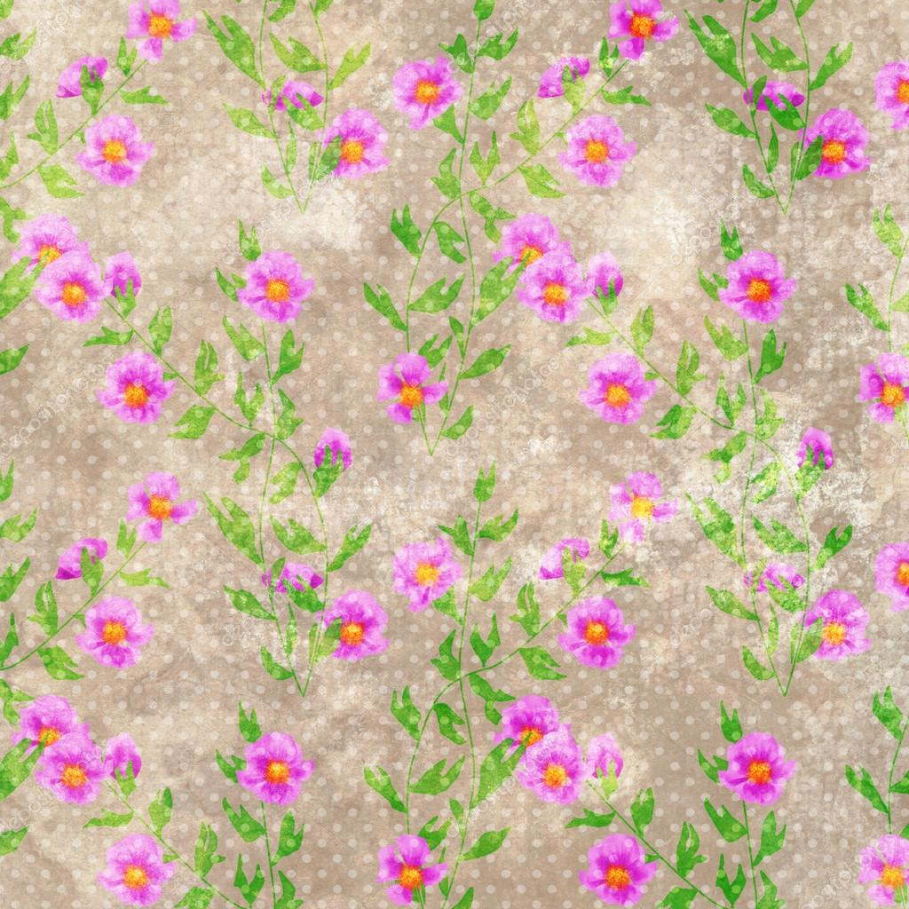 Vintage floral scrapbooking paper | Grunge old flowers floral retro vintage  print paper scrapbook — Stock Photo © Fuzzyfoxer #115709902
