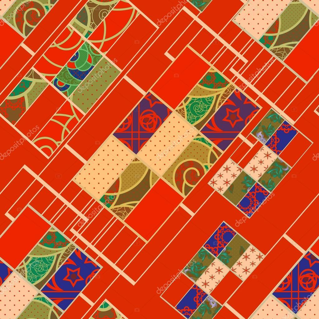Elementos geométricos abstractos de patrones sin fisuras retro ...