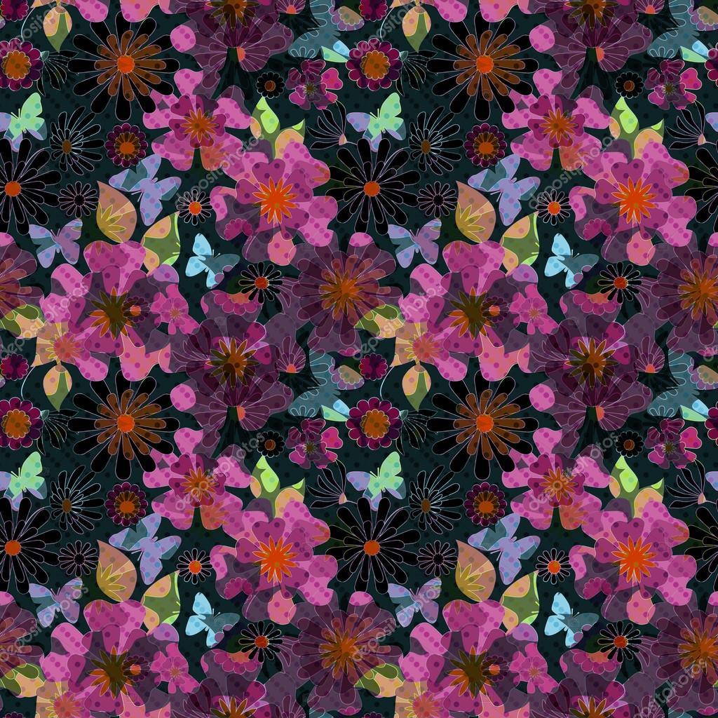 Pantalla Coloridas Flores Una