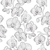 Fotografie Seamless flower pattern with orchids phalaenopsis background