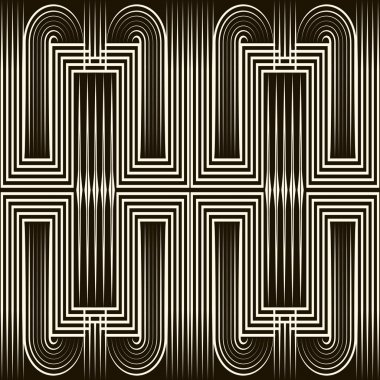 Seamless art deco pattern ornament. Geometric stylish background