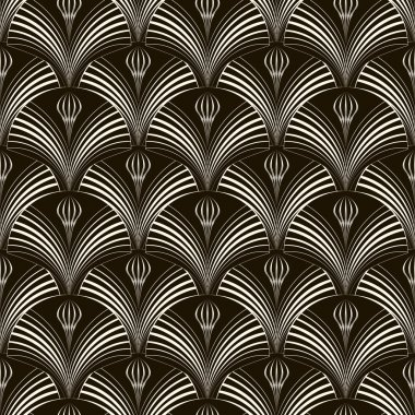 Seamless pattern with stylish elements Vector monochrome texture