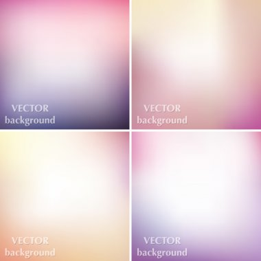Abstract colorful blurred smooth pastel soft colors vector backg
