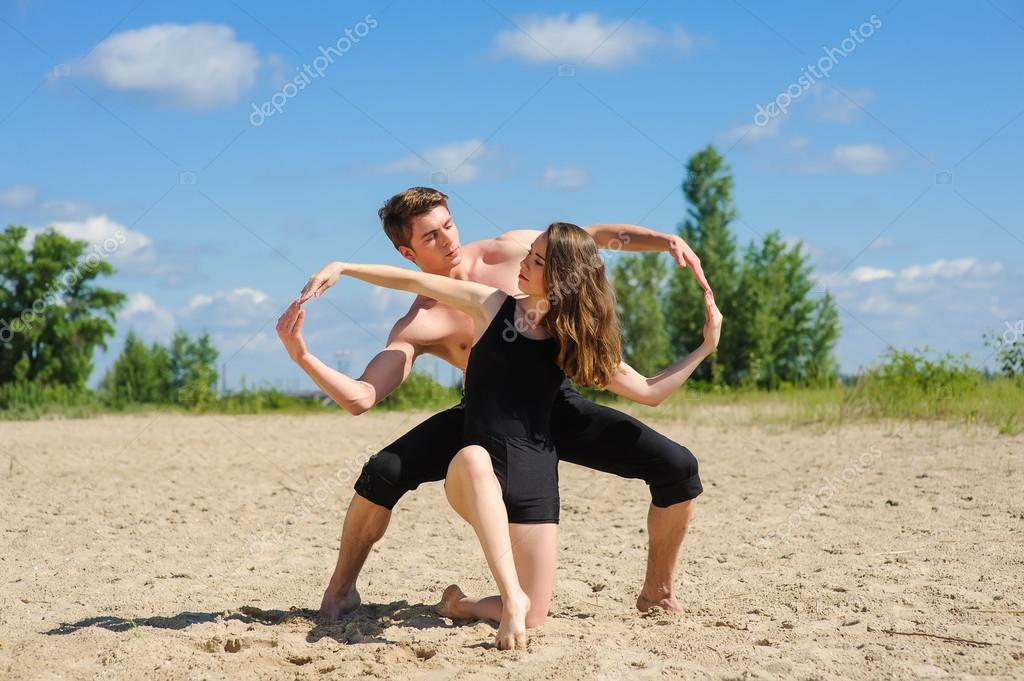 Man and woman hands showing infinity symbol