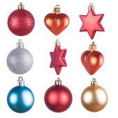 Karácsonyi díszek elszigetelt dekorációk