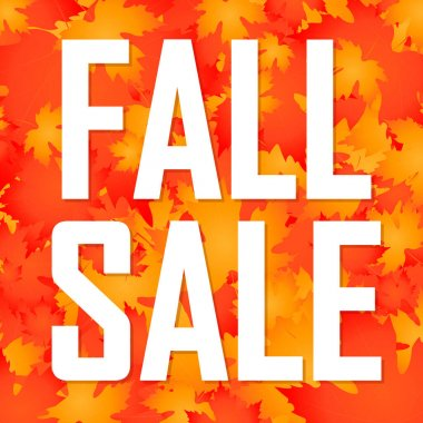 Fall Sale, poster design template, Autumn discount banner, special offer, vector illustration