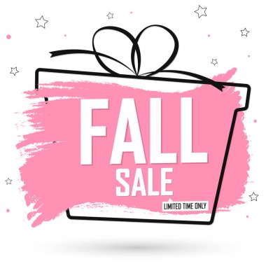 Fall Sale, banner design template, Autumn discount tag, special offer, promo tag, spend up and save more, promotion poster, vector illustration