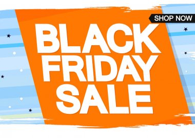 Black Friday Sale, poster design template, spend up and save more, special offer, vector illustration
