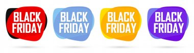 Black Friday, Set Sale banners design template, discount tags, final season offers, vector illustration