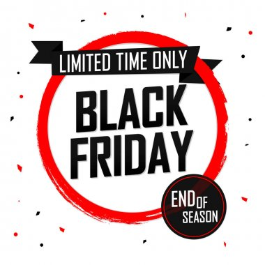 Black Friday Sale, banner design template, discount tag, special offer, dont miss out, grunge brush, vector illustration