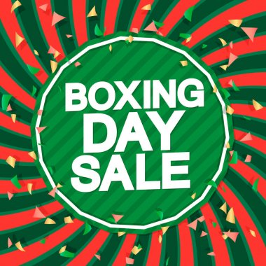 Boxing Day Sale, poster design template, Christmas discount banner, Xmas offer, vector illustration