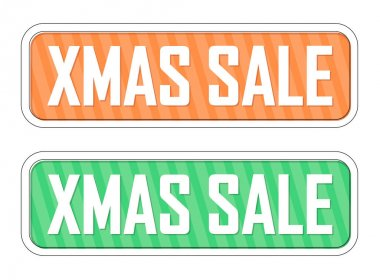Xmas  Sale banners design template, set discount tags, offer badge new collection, vector illustration