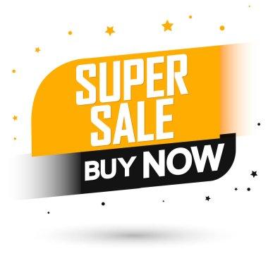 Super Sale, banner design template, discount tag, special offer, promo tag, promotion poster, vector illustration