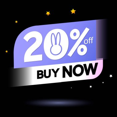 Easter Sale 20% off, tags design template, discount banners, promotion poster, special offer tag, vector illustration