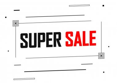 Super Sale, promotion banner design template, discount tag, vector illustration