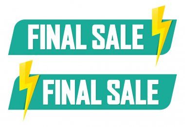 Set Final Sale banners, discount tags design template, vector illustration