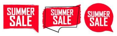 Set Summer Sale banners, discount tags design template, vector illustration