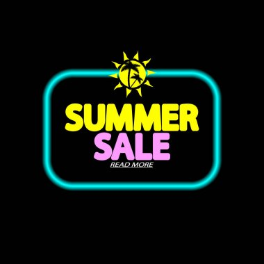 Summer Sale, banner design template, season discount tag, promo poster for online store, vector illustration