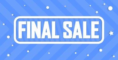 Final Sale, banner design template, discount tag. Promotion poster for shop or online store, vector illustration.